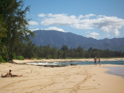 Papa'iloa Beach on Oahu's North Shore, a backdrop familiar to LOST fans.