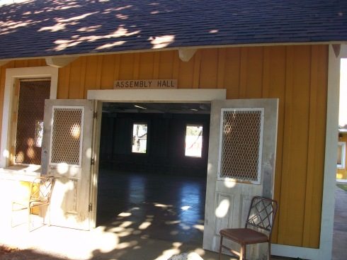 Kate was held captive in Camp Erdman's Assembly Hall.